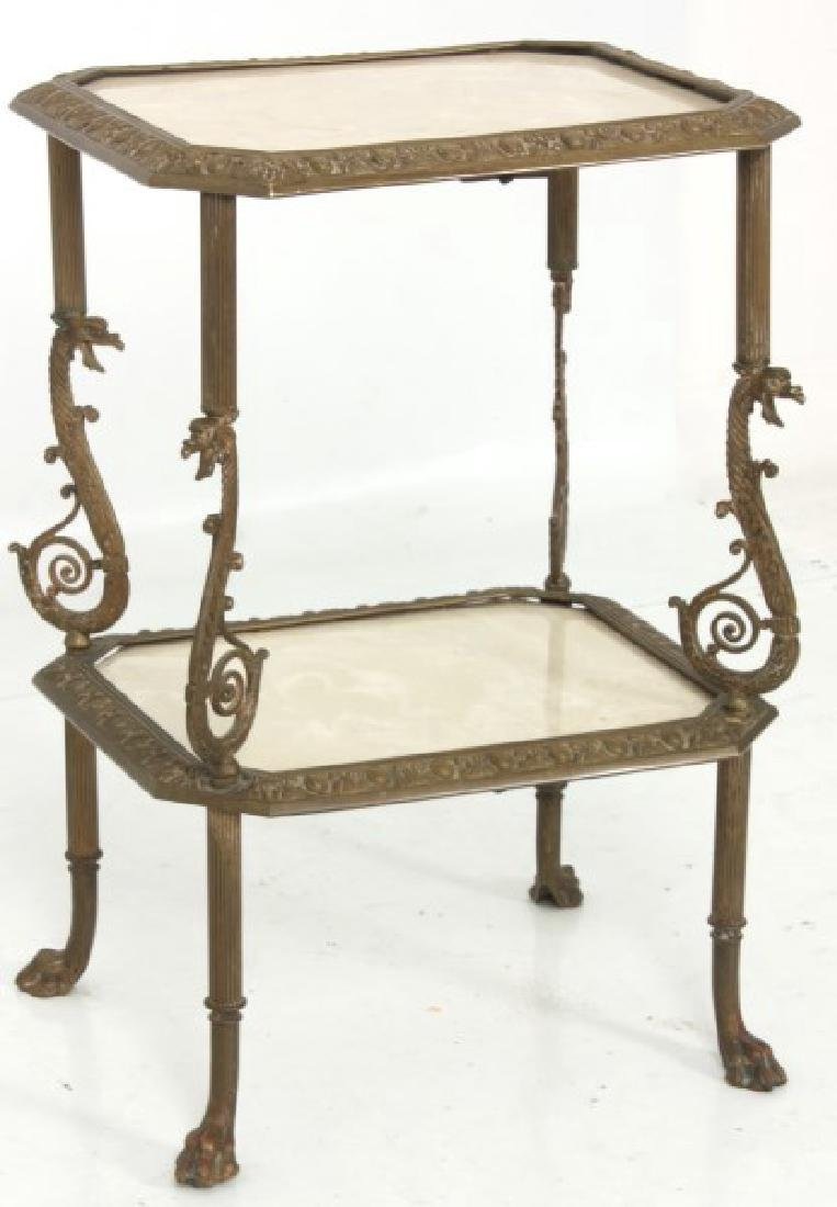 Bronze Griffin 2 Tier Stand - 3