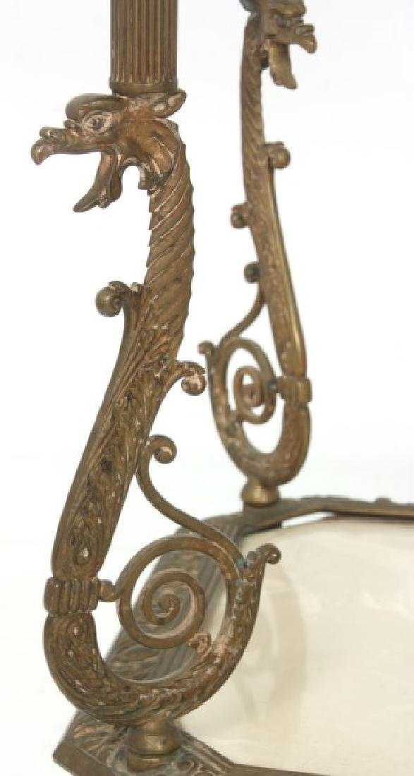 Bronze Griffin 2 Tier Stand - 6