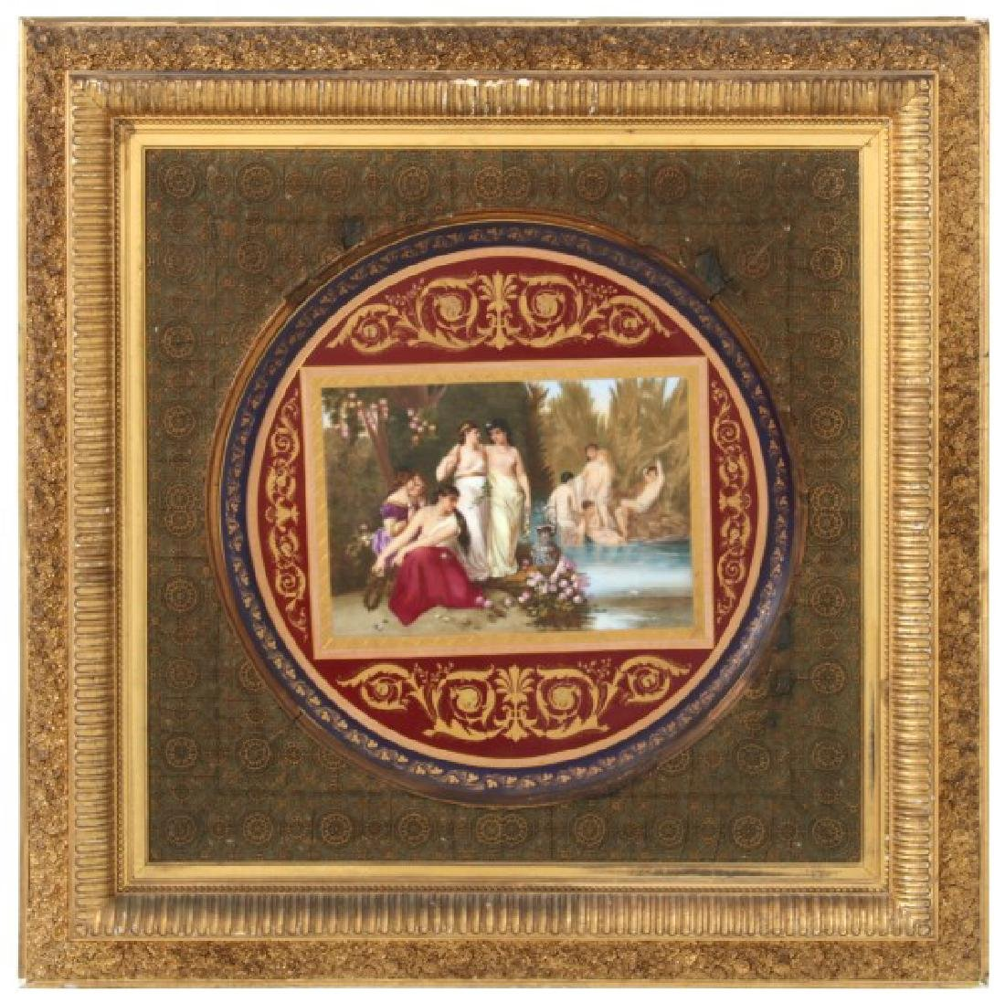 19 in. Royal Vienna Hand Painted Porcelain Charger