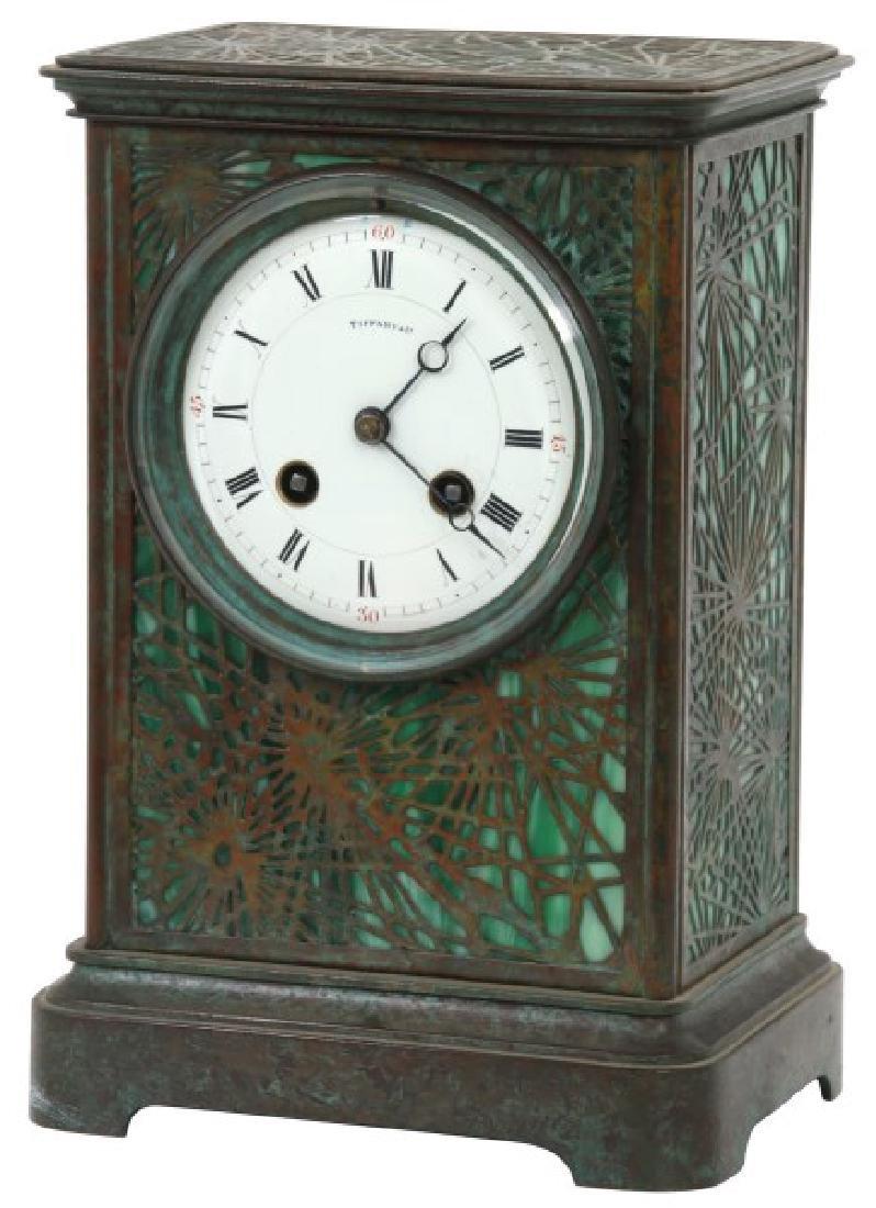 Tiffany Pine Needle Desk Clock