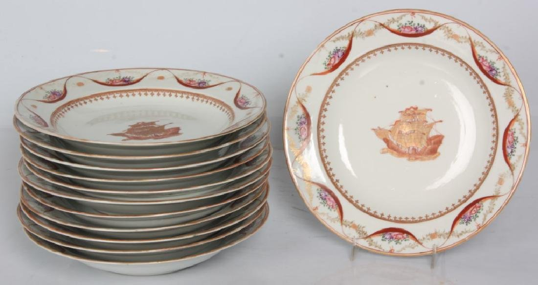 12 Chinese Export Soup Plates
