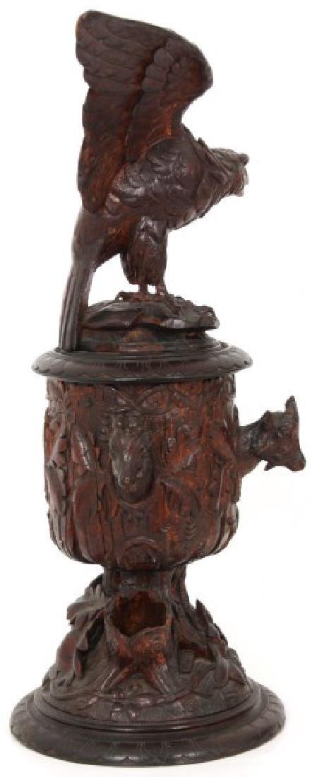 Lg Figural Black Forest Covered Urn - 6