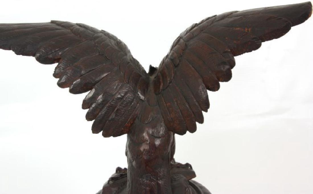 Lg Figural Black Forest Covered Urn - 8