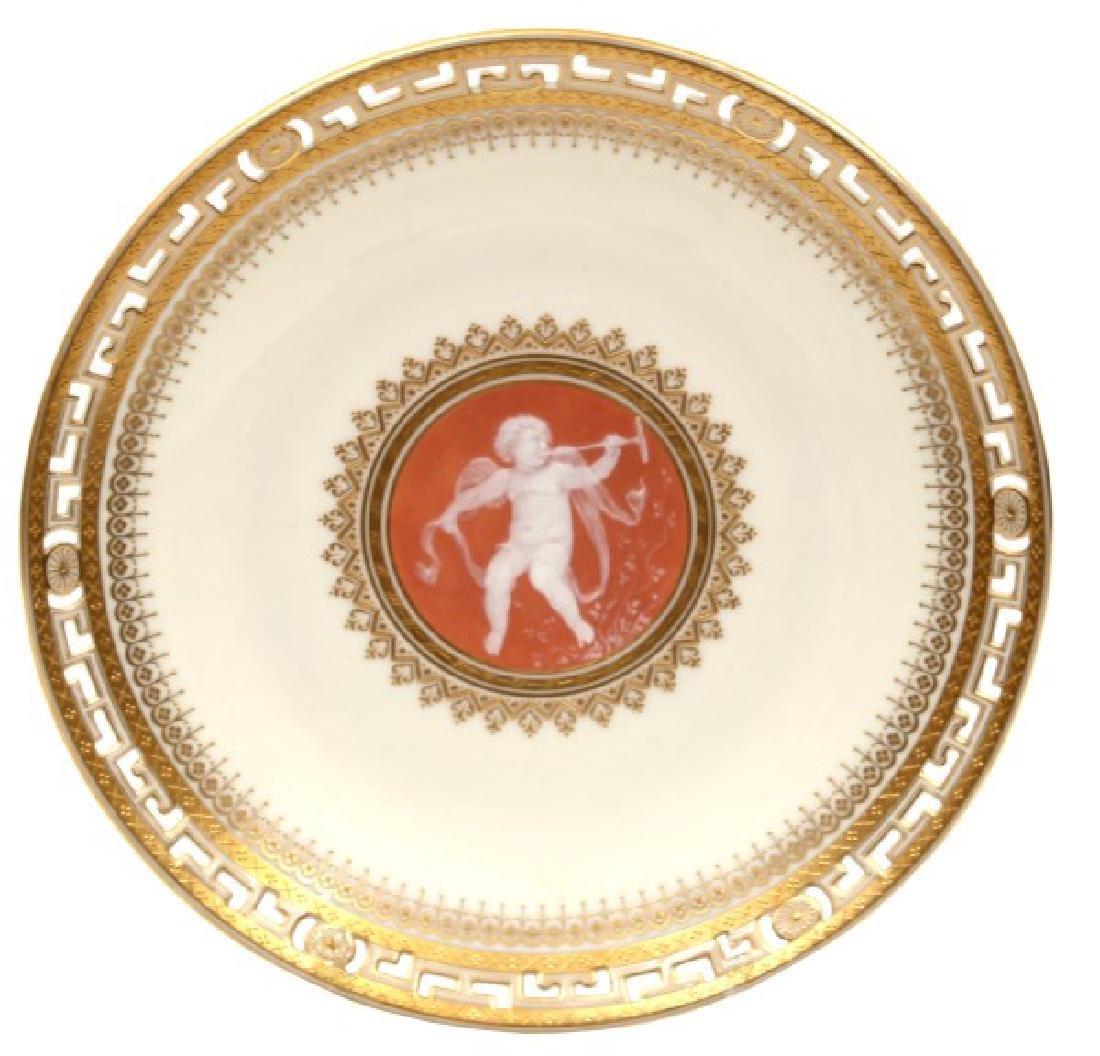 9.5 in. Minton Pate-Sur-Pate Porcelain Plate