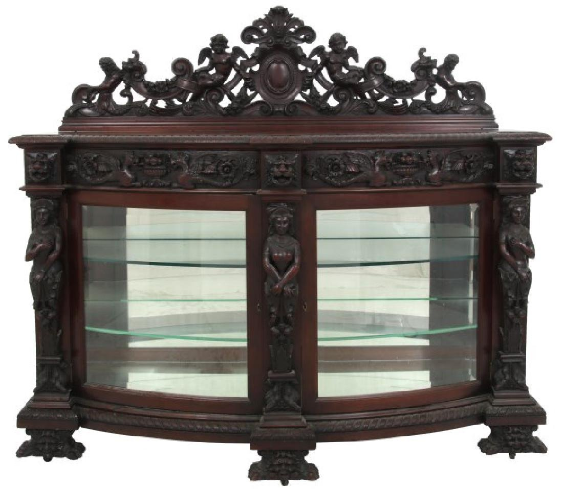 RJ Horner Mahogany Crystal Cabinet