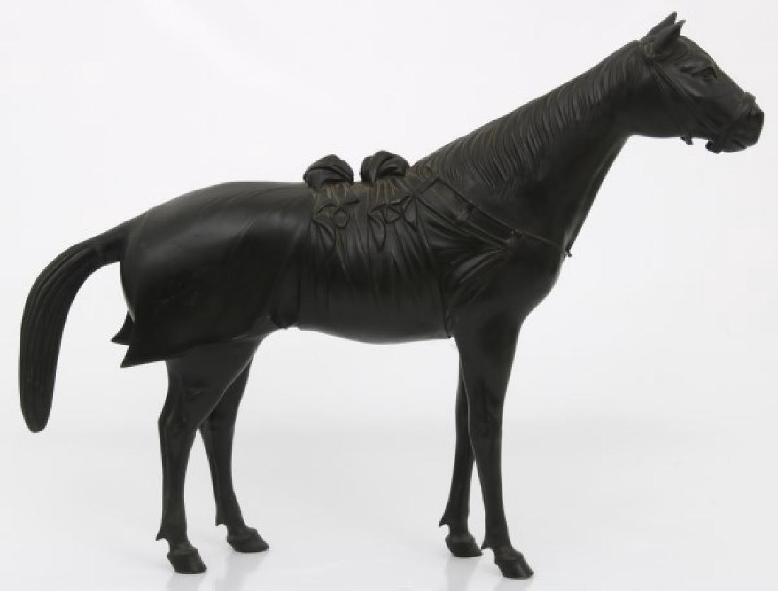 Lg. Bronze Japanese Sculpture of a Horse - 10