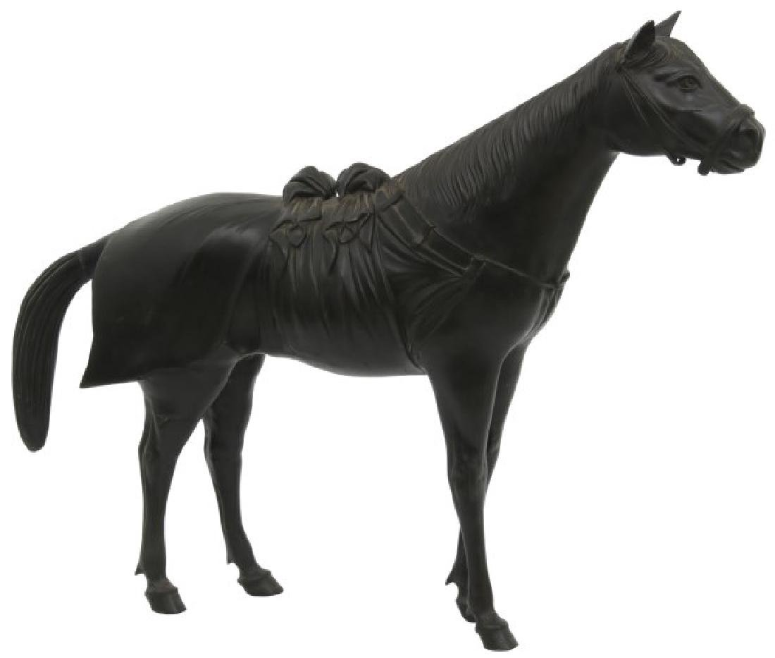 Lg. Bronze Japanese Sculpture of a Horse