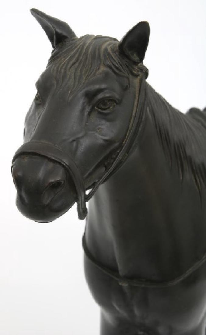 Lg. Bronze Japanese Sculpture of a Horse - 4