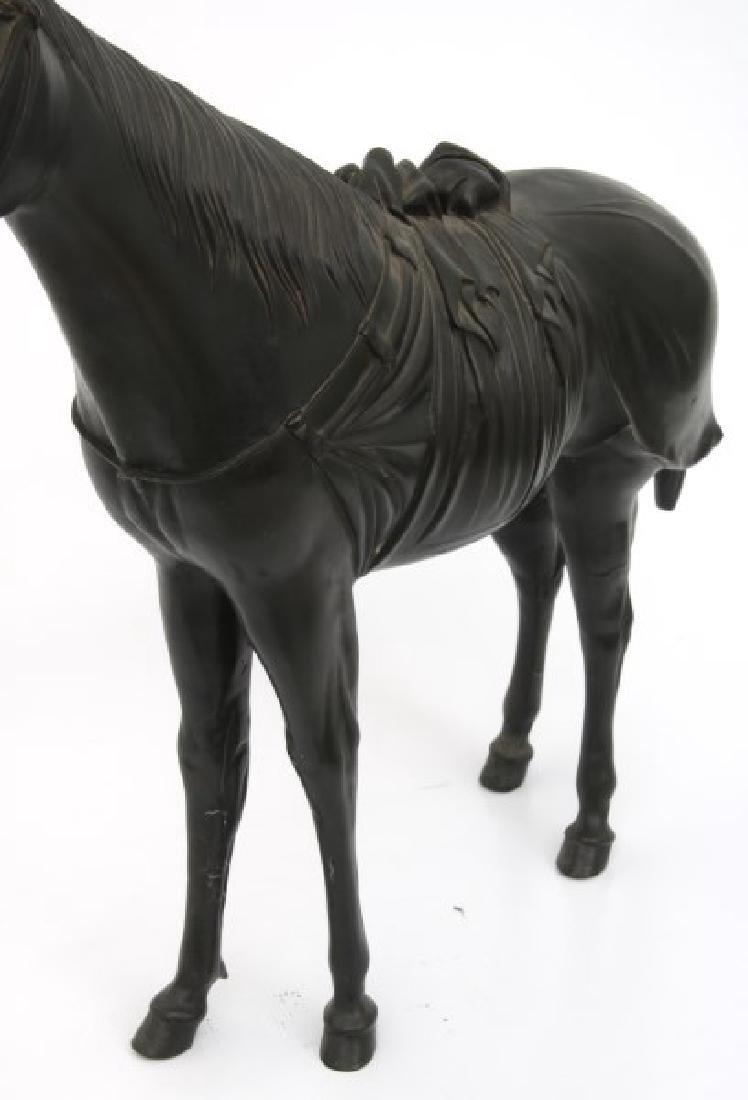 Lg. Bronze Japanese Sculpture of a Horse - 5