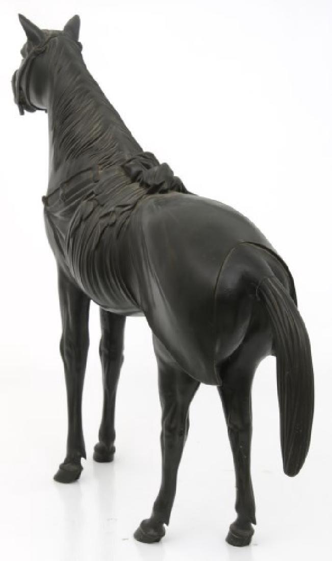 Lg. Bronze Japanese Sculpture of a Horse - 8
