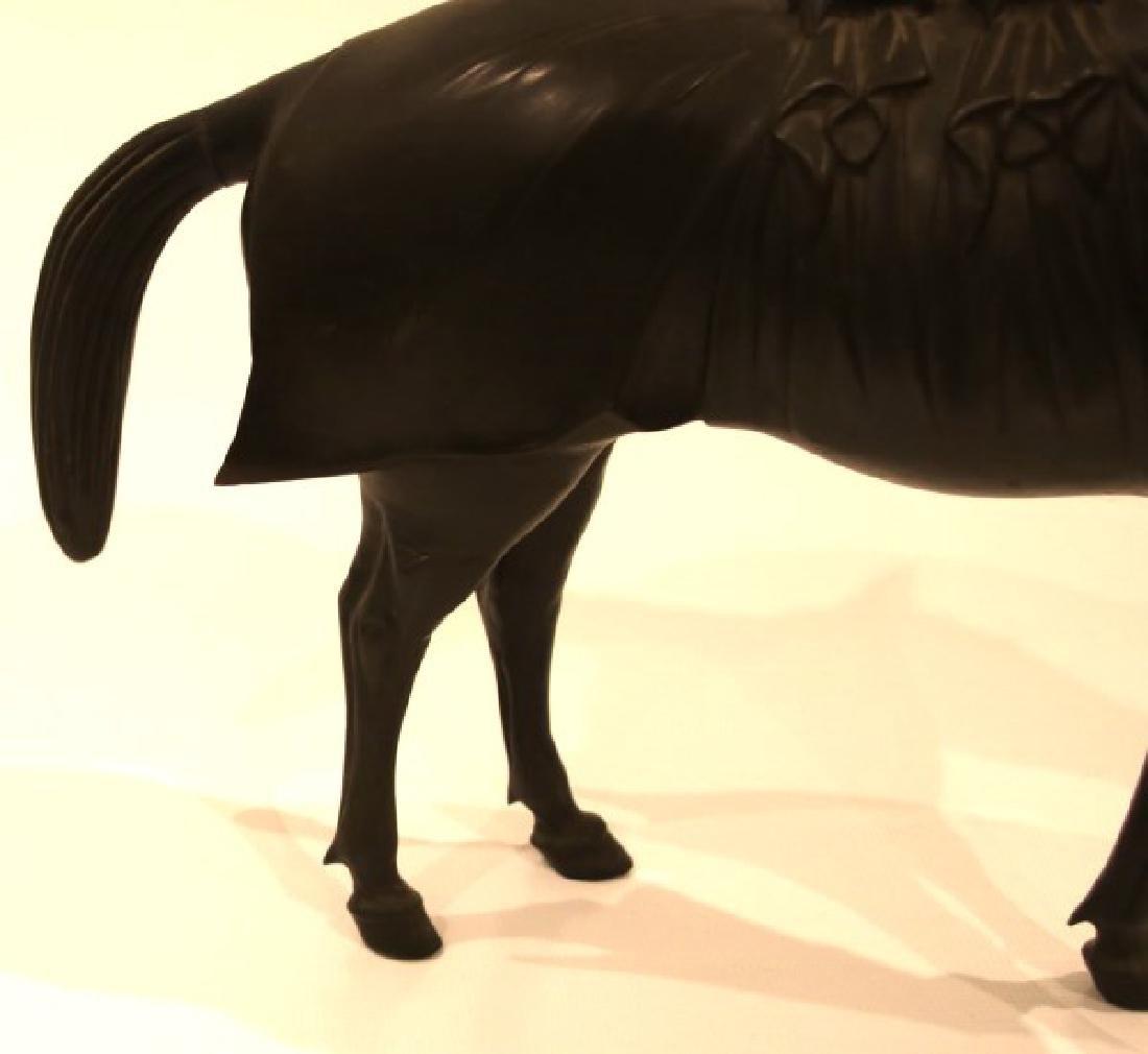 Lg. Bronze Japanese Sculpture of a Horse - 9
