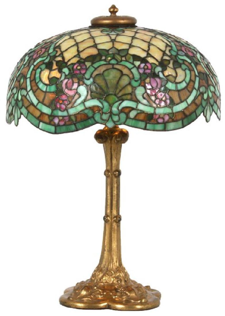 18 in. Williamson Rose Leaded Table Lamp