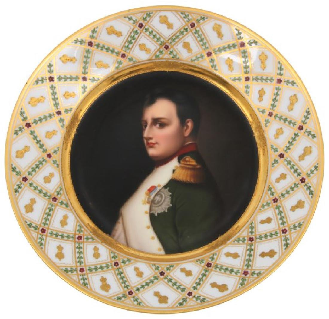 10 in. German Hand Painted Portrait Plate