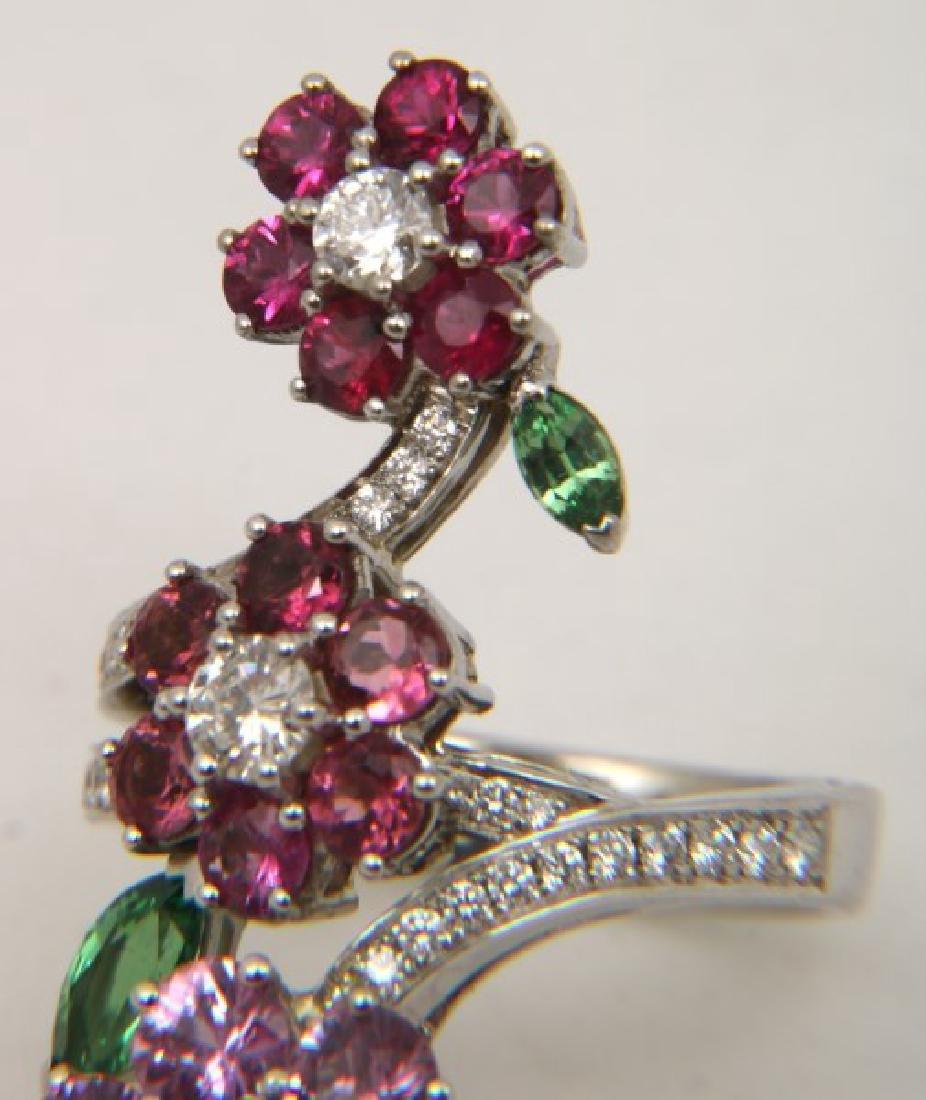 18K Van Cleef & Arpels Floral Bypass Ring - 10