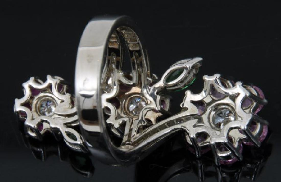 18K Van Cleef & Arpels Floral Bypass Ring - 5