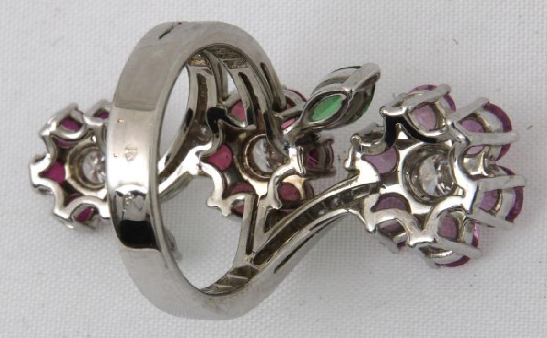 18K Van Cleef & Arpels Floral Bypass Ring - 6