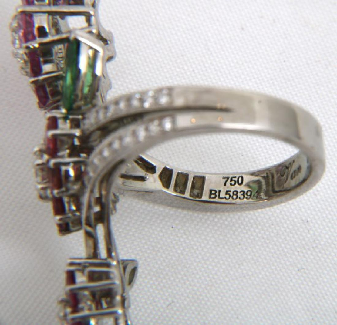 18K Van Cleef & Arpels Floral Bypass Ring - 8