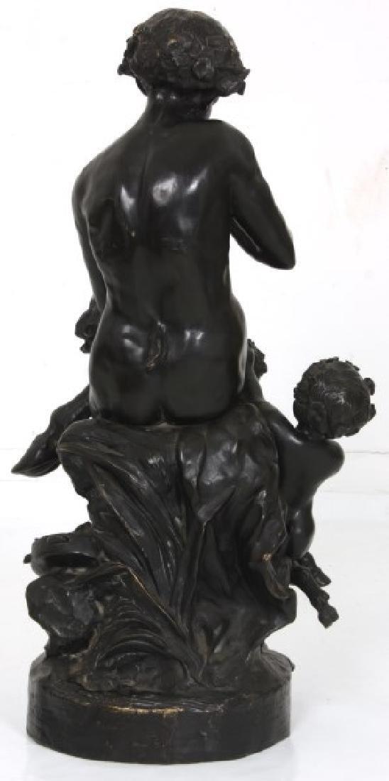 Clodion Bronze Sculpture – Faun And Infants - 3
