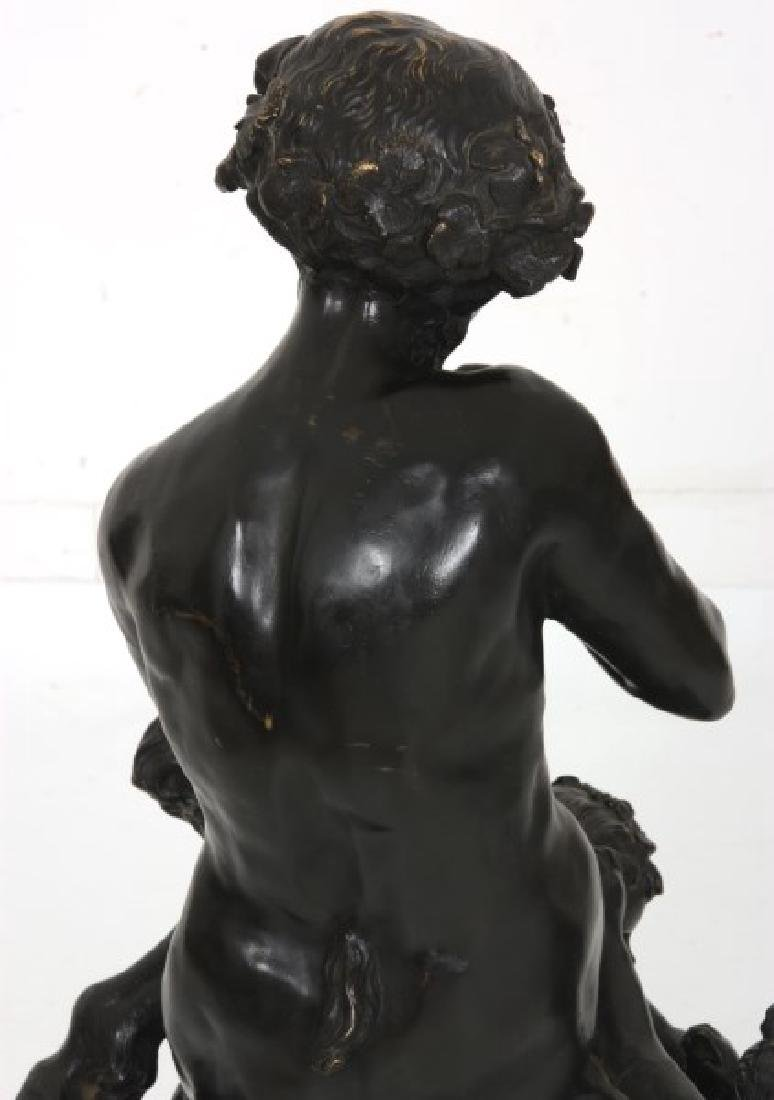 Clodion Bronze Sculpture – Faun And Infants - 4