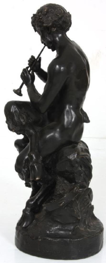 Clodion Bronze Sculpture – Faun And Infants - 5