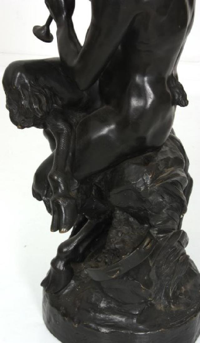 Clodion Bronze Sculpture – Faun And Infants - 7