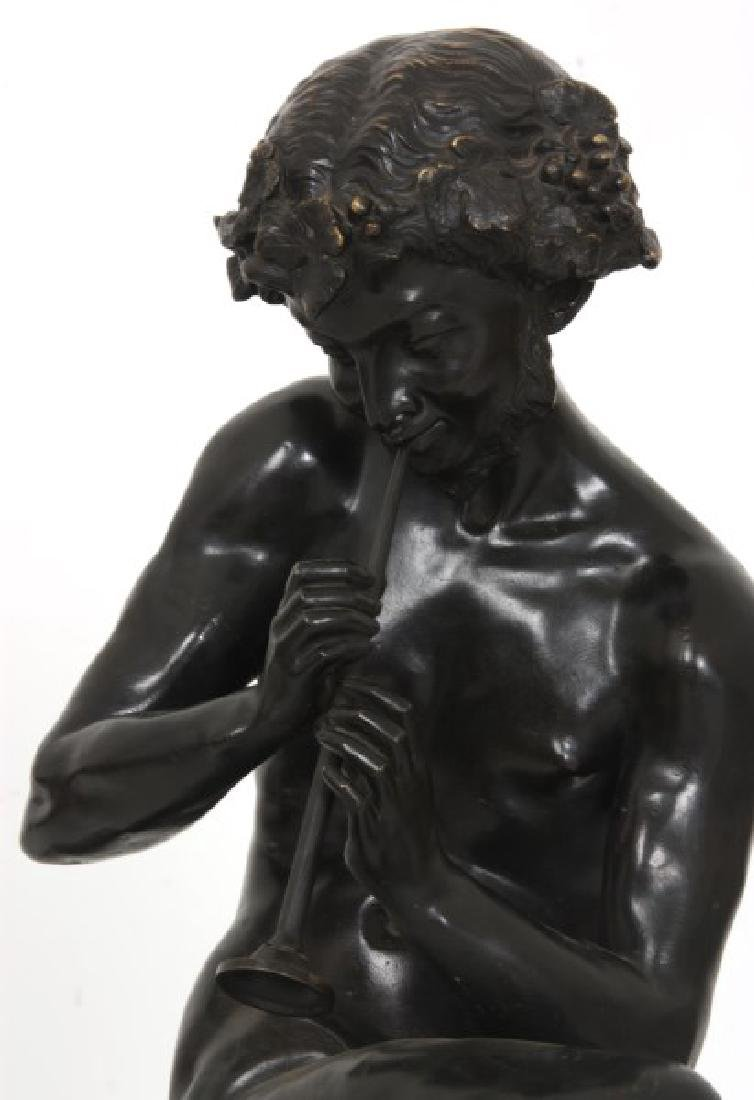 Clodion Bronze Sculpture – Faun And Infants - 8