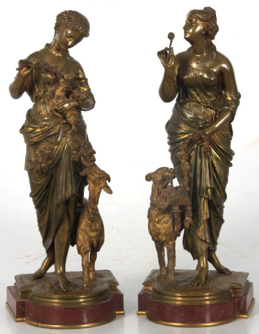 Pr. Arthur Waagen Figural Bronze Sculptures