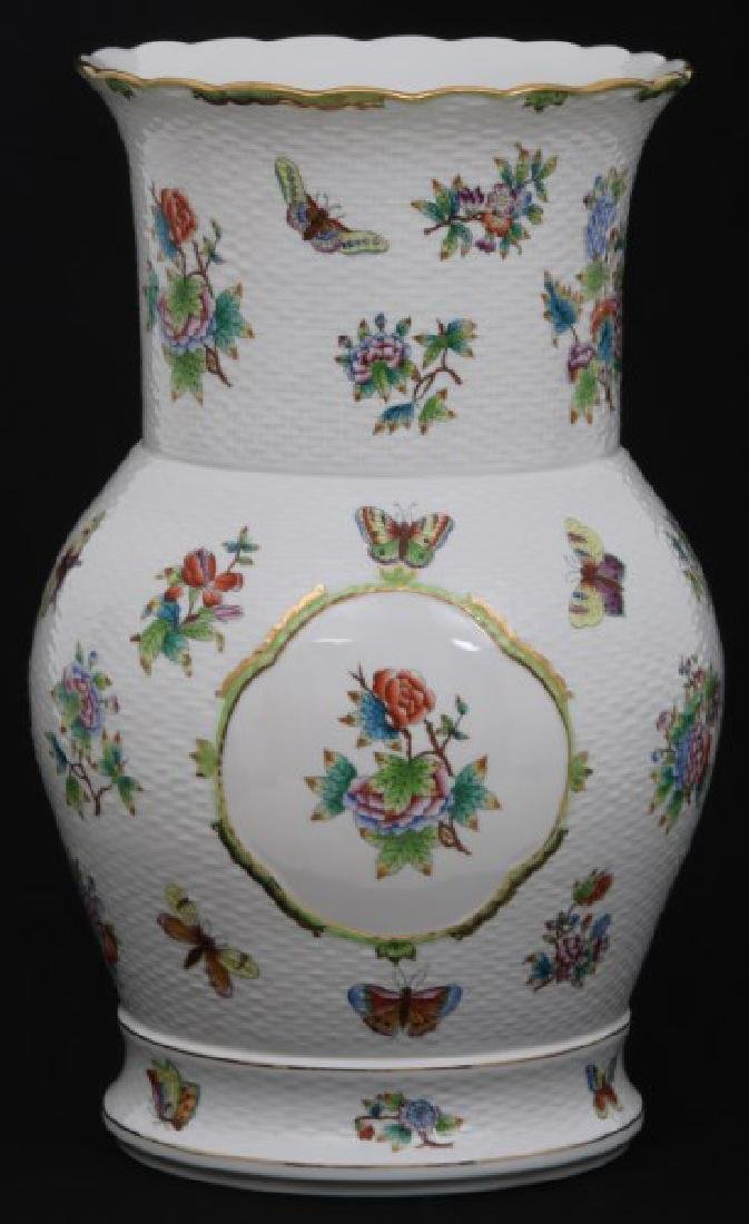 18 in. Herend Queen Victoria Pattern Vase