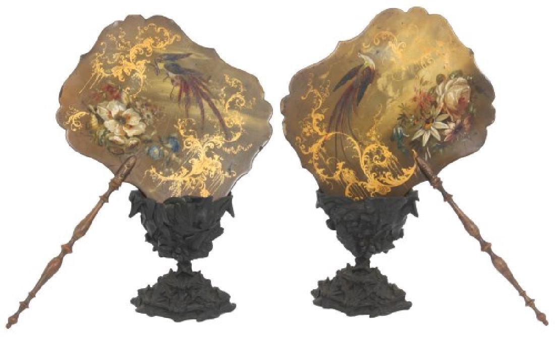 Pr. Paint Decorated Paper Mache Fans