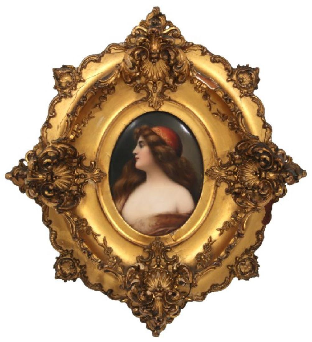 Hutschenreuther Oval Hand Painted Porcelain Plaque