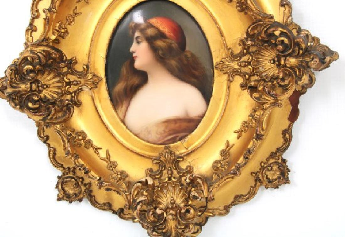 Hutschenreuther Oval Hand Painted Porcelain Plaque - 4
