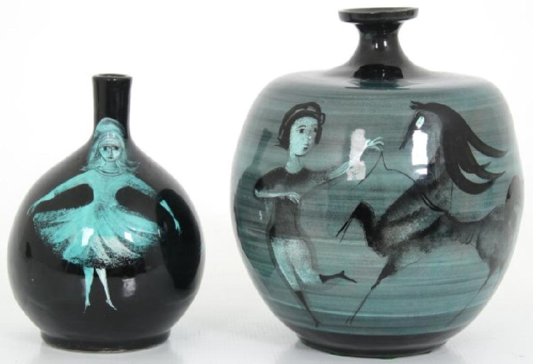 2 Pcs. Polia Pillin Pottery Vases