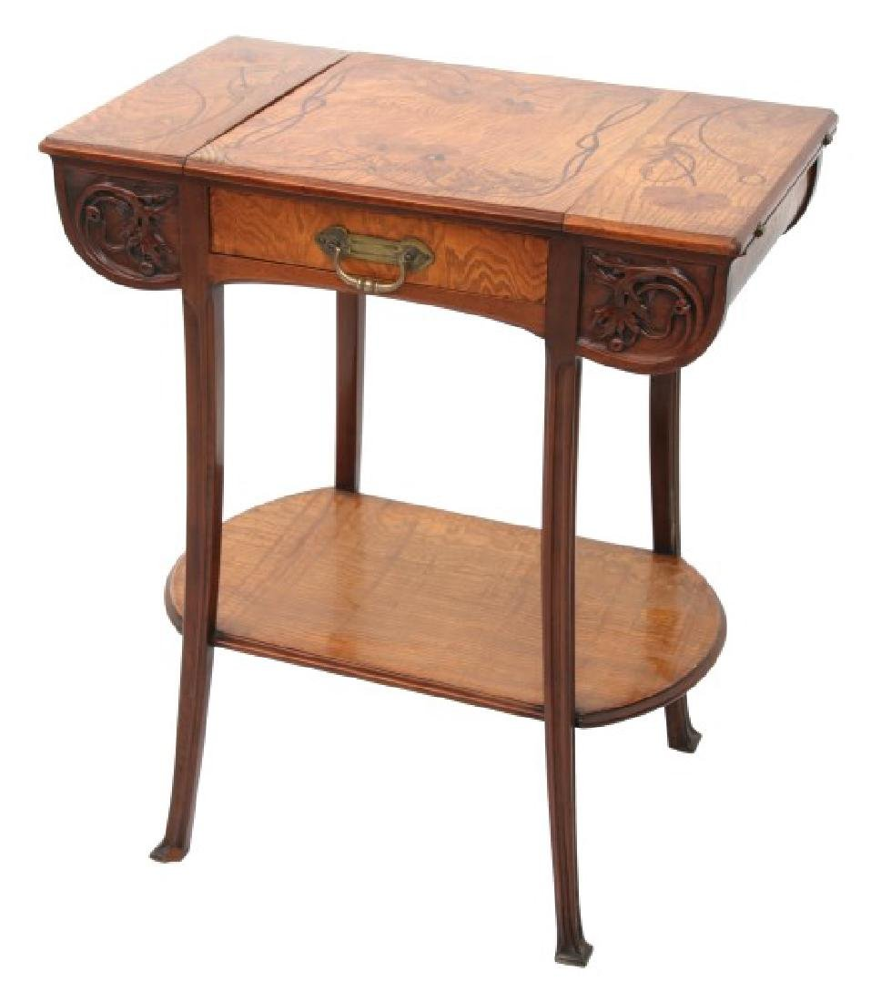 Camille Gauthier Inlaid 1 Dwr. Sewing Table