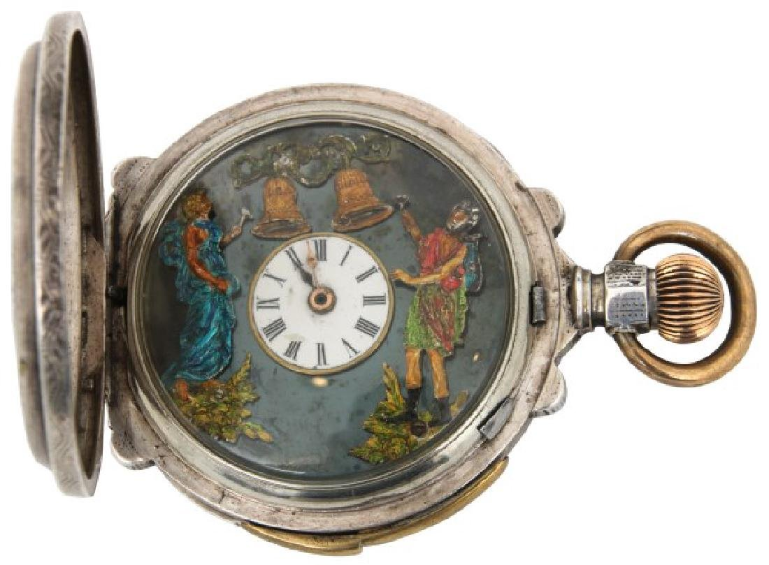 Animated Quarter Hour Repeater Pocket Watch