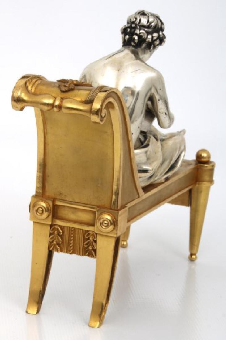 Pr. Bouhon Freres French Bronze Chenets - 9