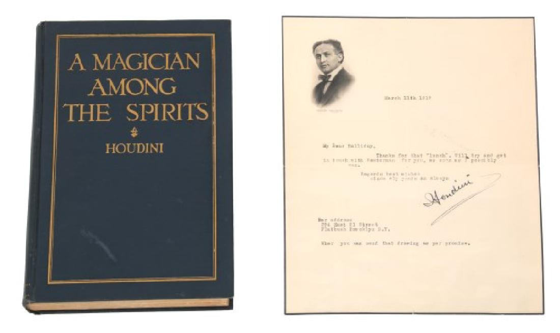 Signed Houdini A Magician Among The Spirits