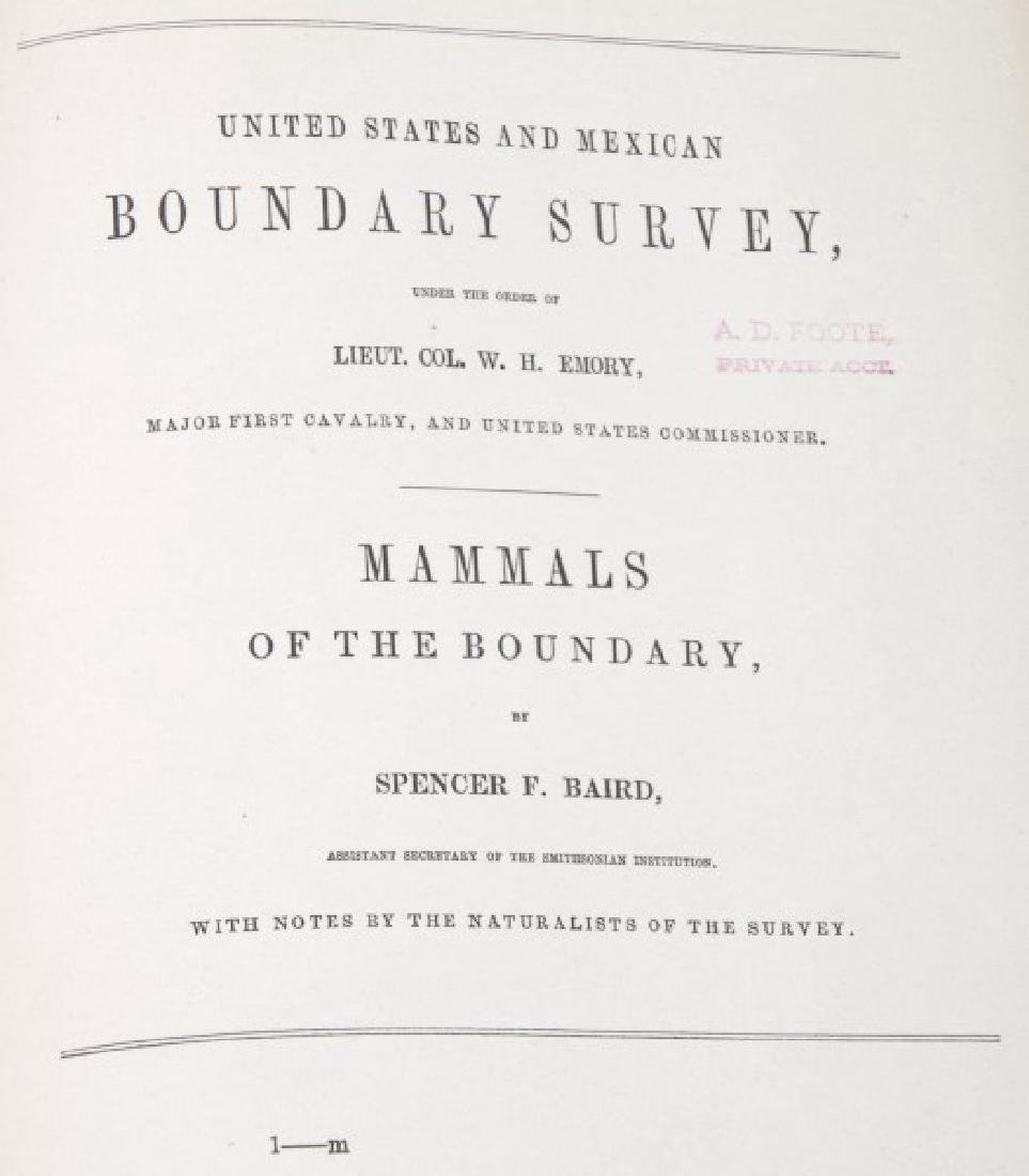 Emory US And Mexican Boundary Survey Book - 2