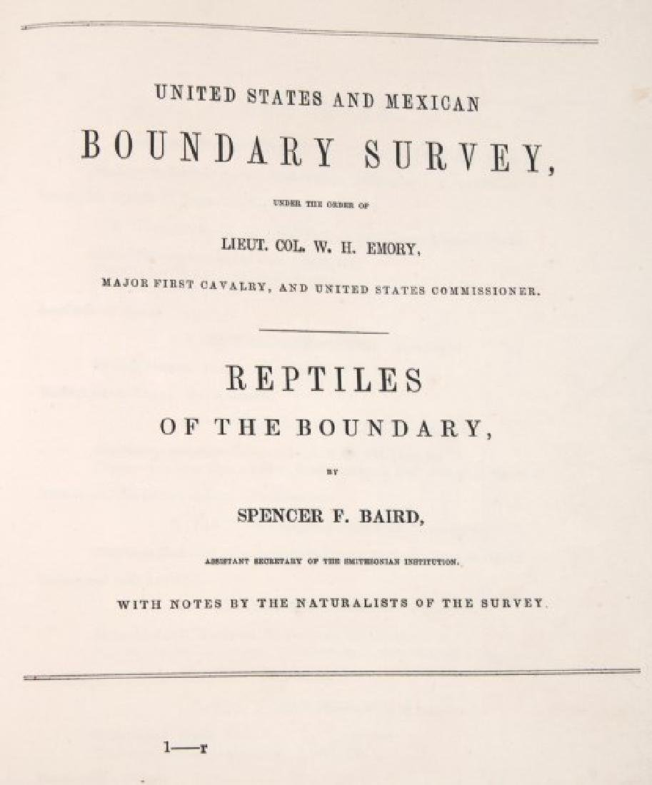 Emory US And Mexican Boundary Survey Book - 3