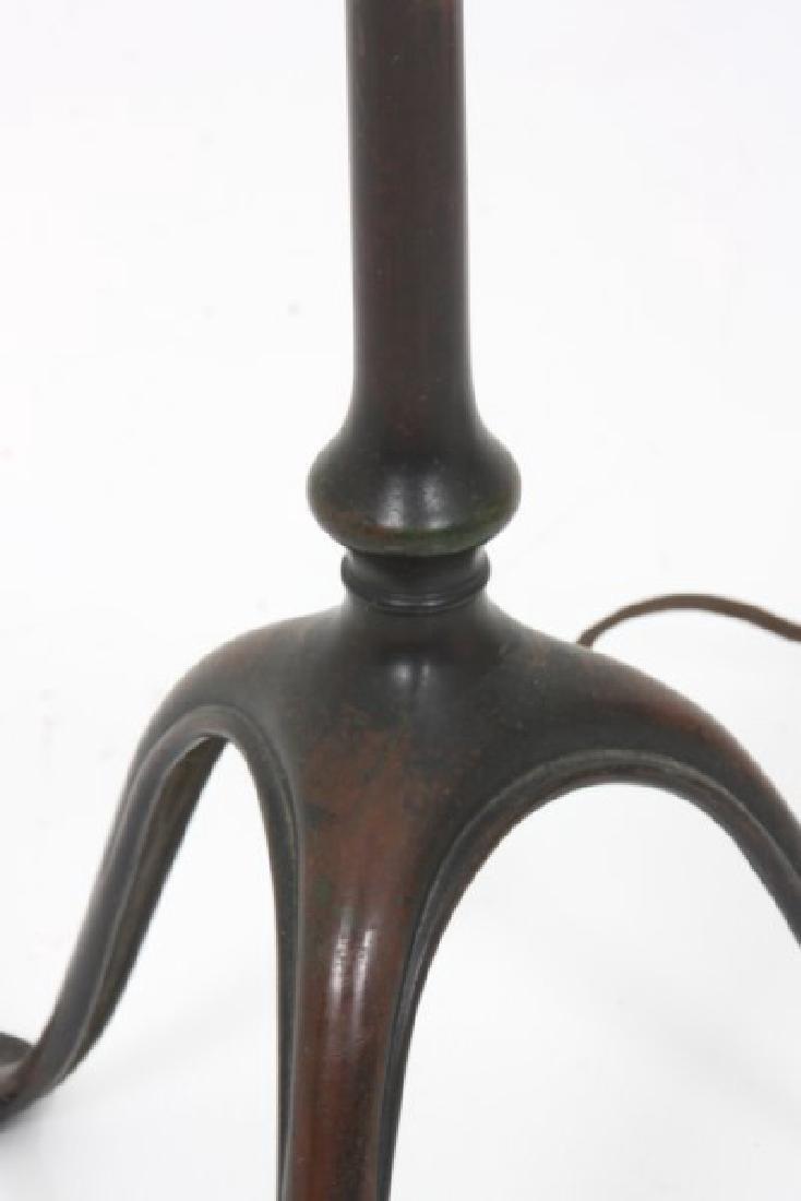 Tiffany Studios Bronze Harp Floor Lamp - 4
