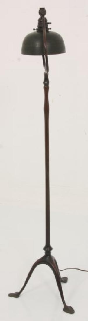 Tiffany Studios Bronze Harp Floor Lamp - 7