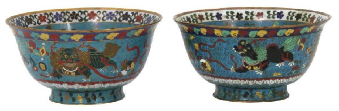 Pr. Lg. Chinese Cloisonne Bowls