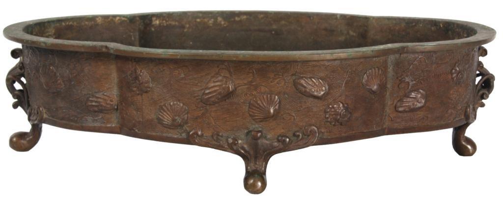 Japanese Meiji Bronze Fernery
