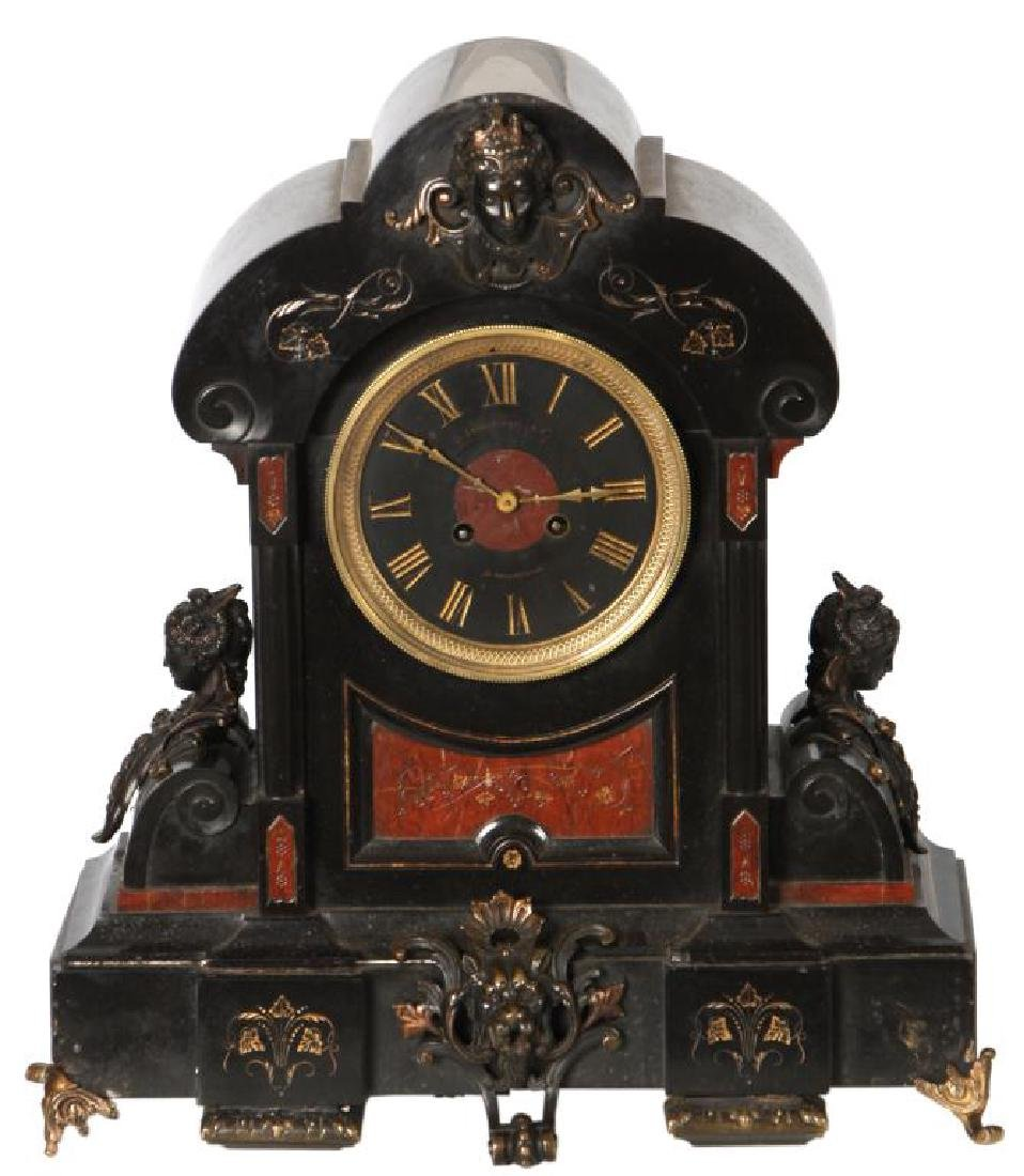 Large Marble Mantle Clock
