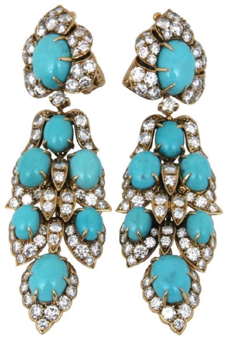 18K Van Cleef & Arpels Pendant Earrings