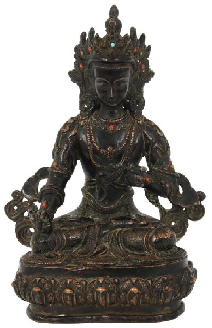 Bronze Seated Tara Sculpture