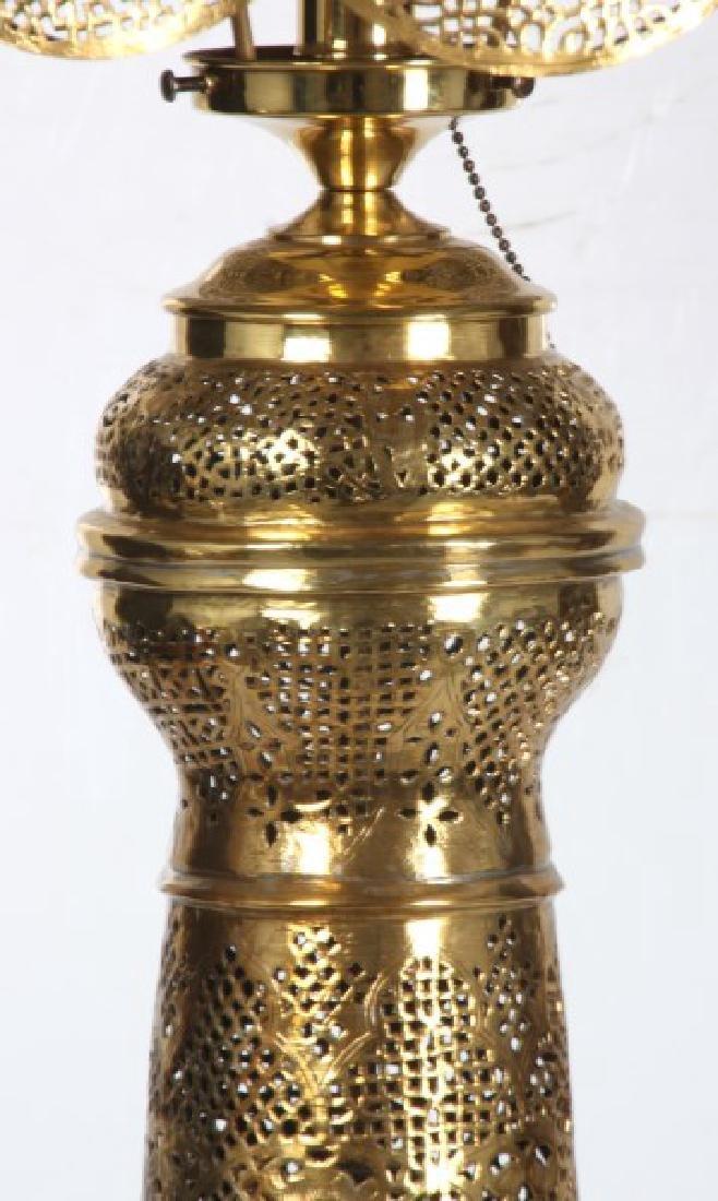 Turkish Pierced Brass Table Lamp - 3