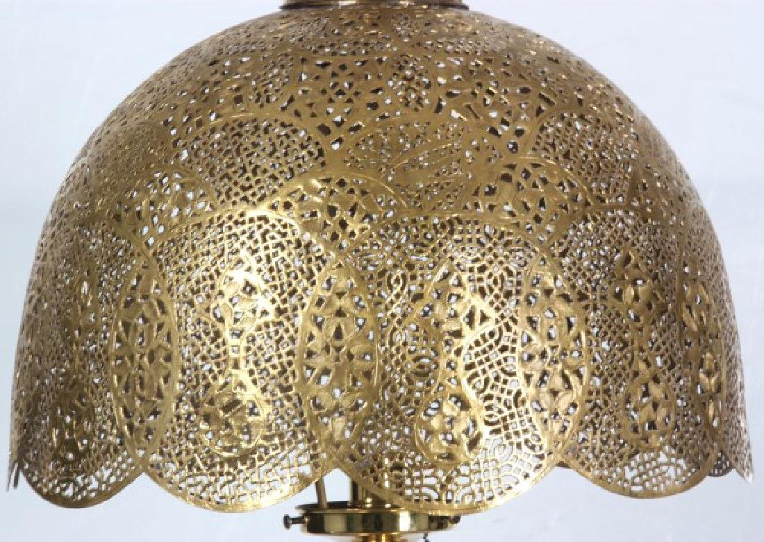 Turkish Pierced Brass Table Lamp - 4