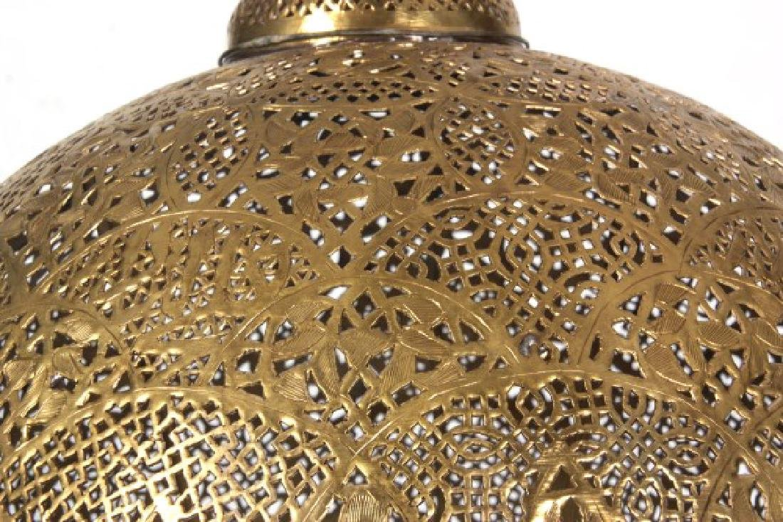 Turkish Pierced Brass Table Lamp - 7