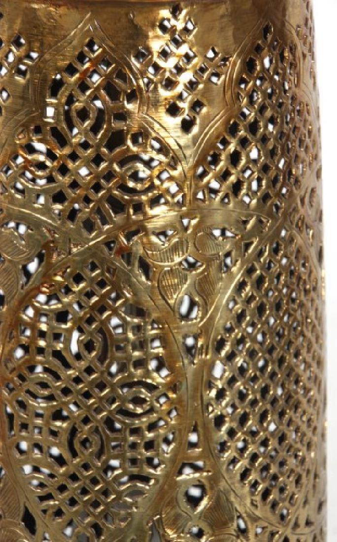 Turkish Pierced Brass Table Lamp - 8