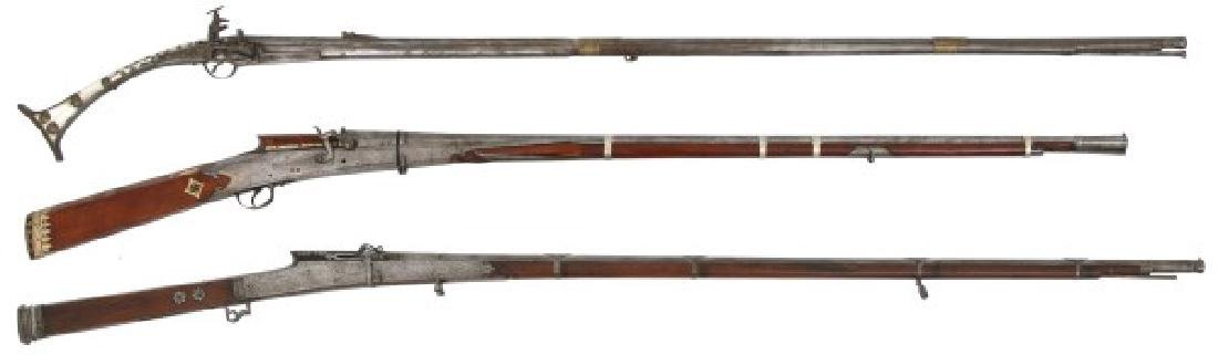 3 Primitive Muzzle Loading Firearms